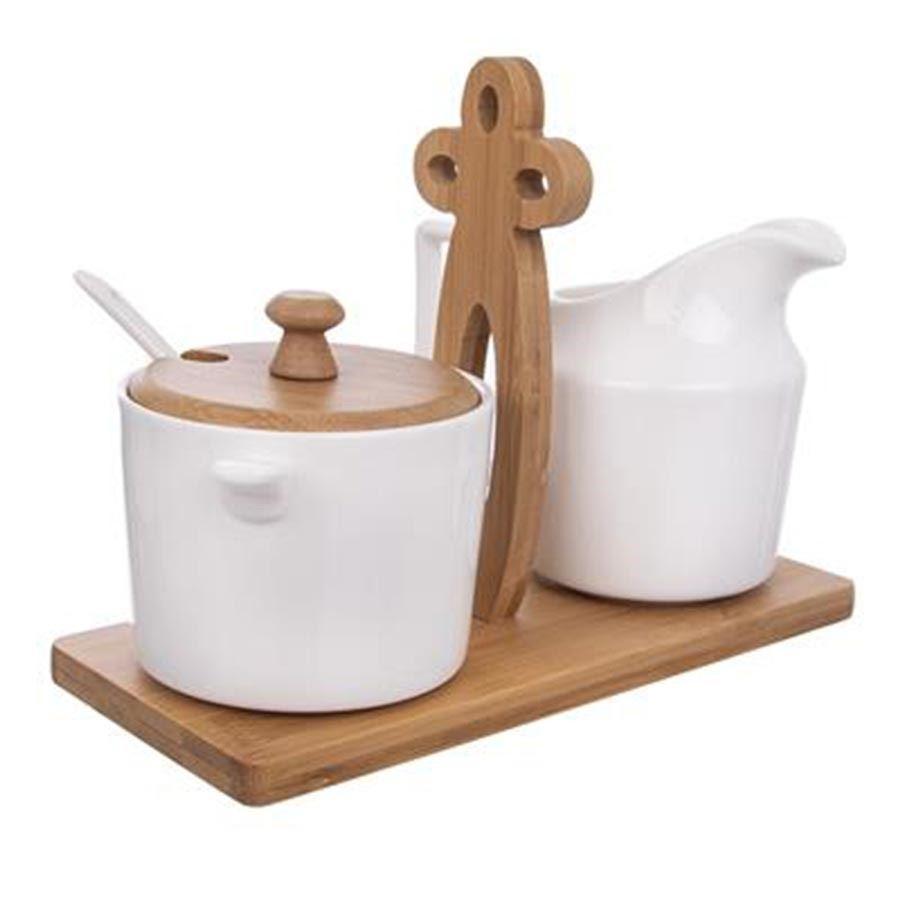 Mlékovka+cukřenka WHITELINE O0122