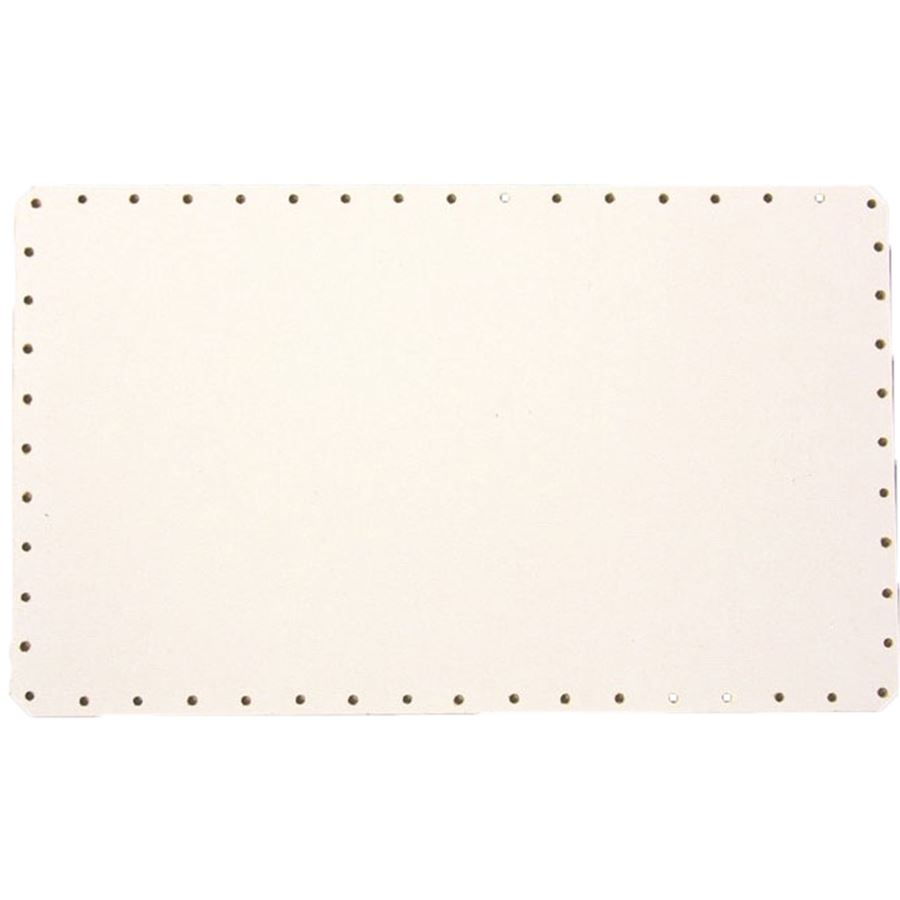 sololak bílý obdél.zak.hr. 26x18cm s otvory 22B2618D