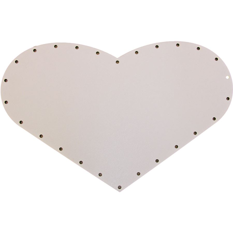 sololak bílý srdíčko 25x16cm s otvory 22B2516S