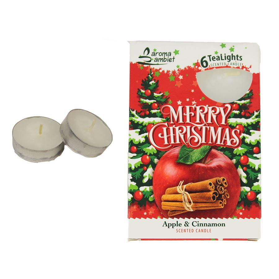 Svíčka čajová MERRY CHRISTMAS 6ks MSC-TL1028