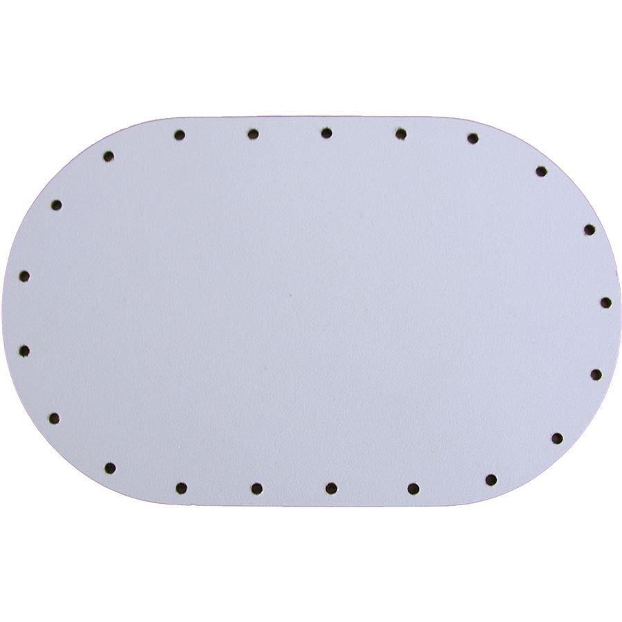 sololak bílý ovál 10x16cm s otvory 22B1016V