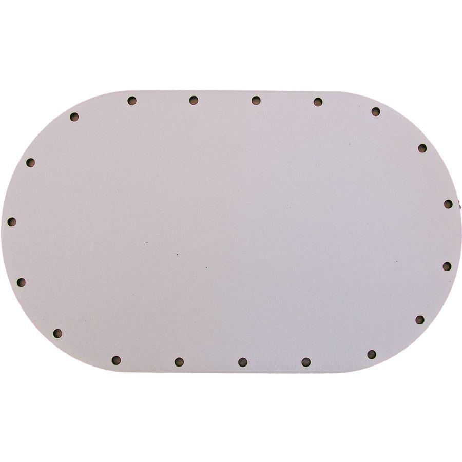 sololak bílý ovál 18x11cm s otvory 22B1811V
