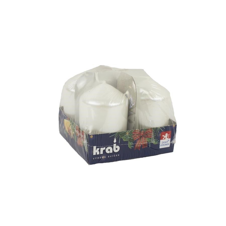 Adventní svíčky 40x 60 4 ks lak bílá perleť MK0018