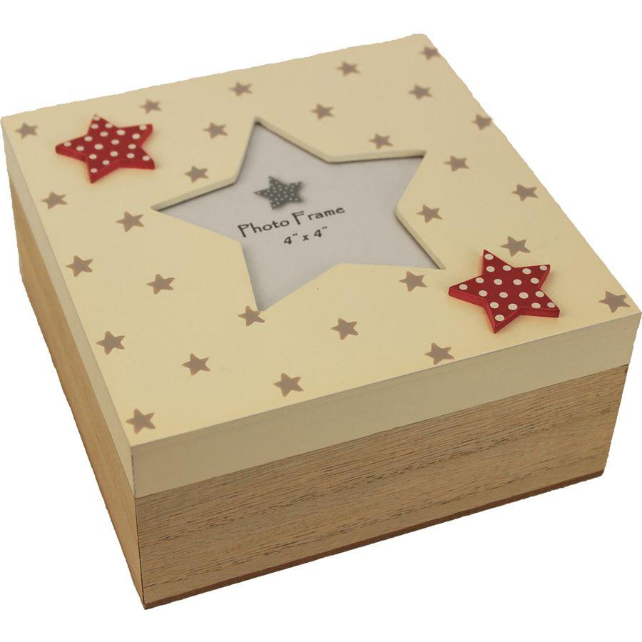 Dřevěná krabička s hvězdou D0415