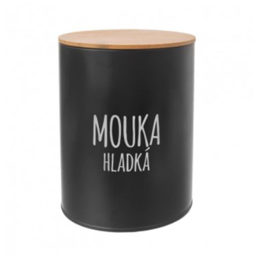 Dóza Mouka hladká BLACK O0164