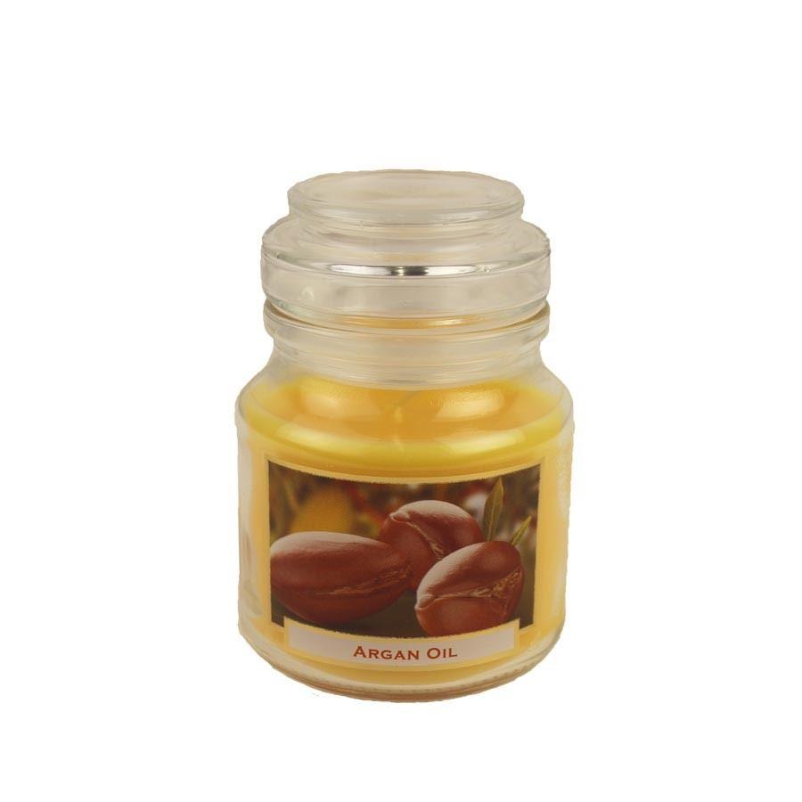 Svíčka s vůní 130g ve skleněné dóze s víčkem - Wellness Argan Oil MB0005