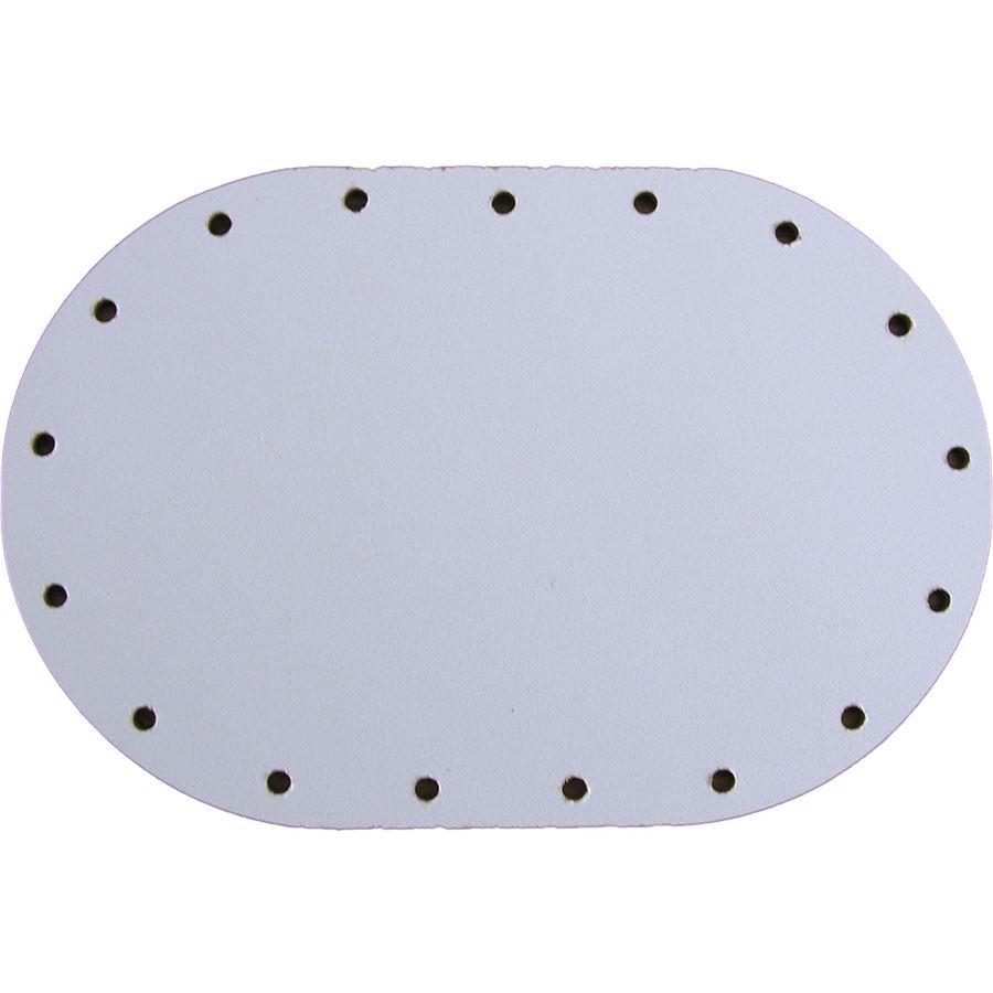 sololak bílý ovál 8 x 12cm s otvory 22B0812V