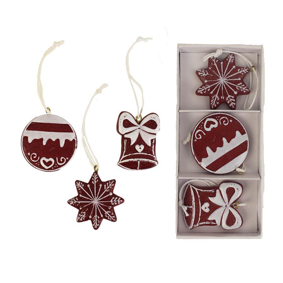 Vánoční dekorace, 3 ks K1147