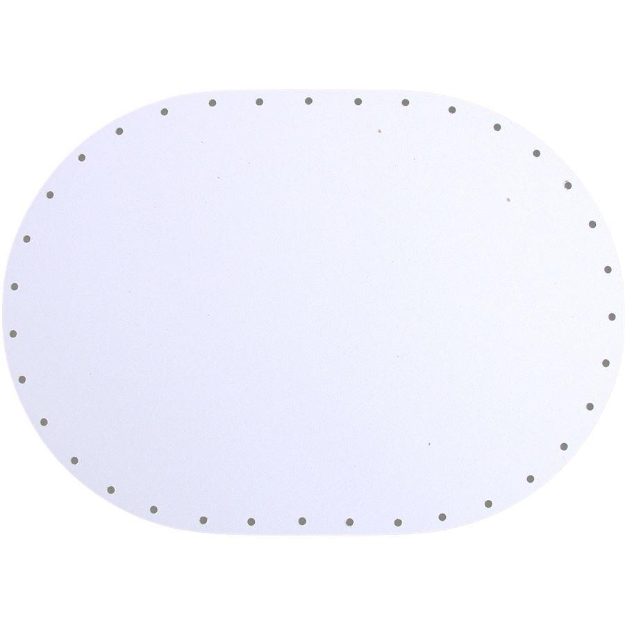 sololak bílý ovál 17x24cm s otvory 22B1724V