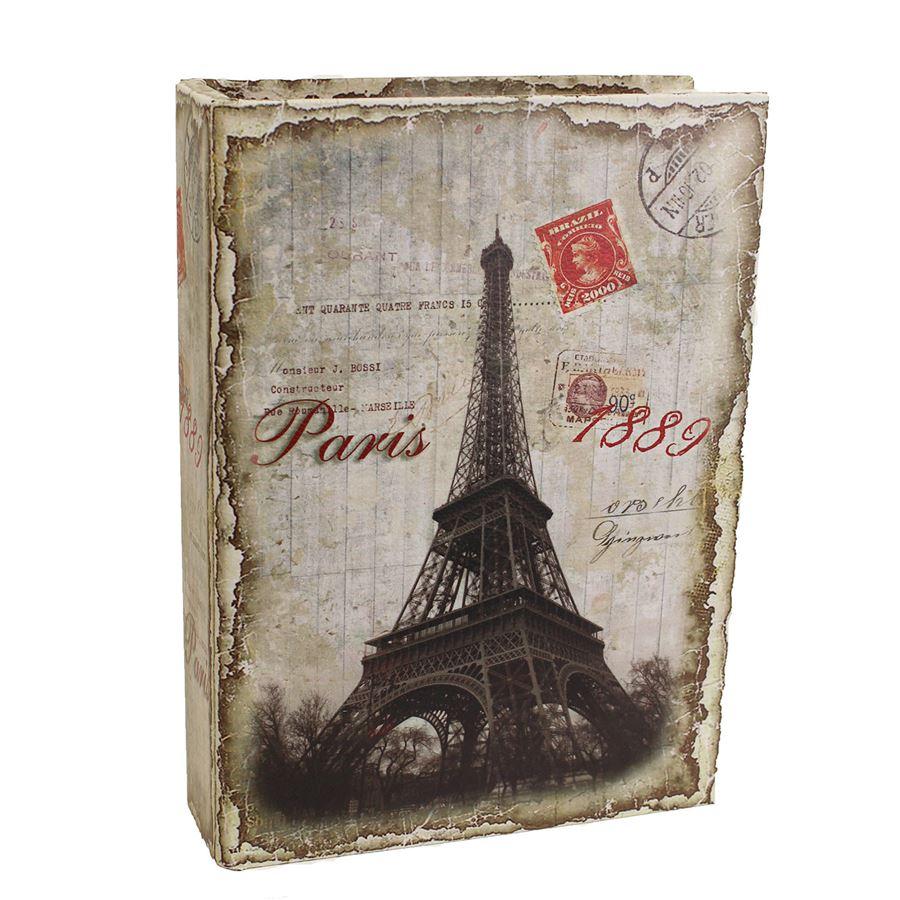 Dřevěná kniha Paris, velká D0993/V