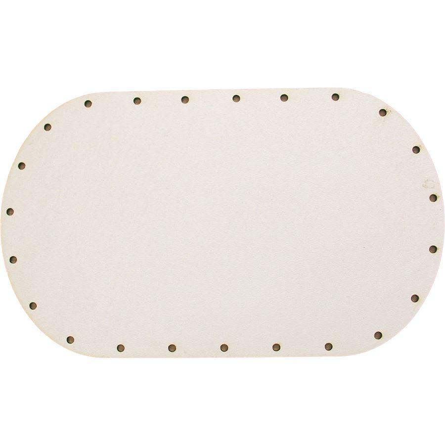 sololak bílý ovál 20x12 cm s otvory 22B2012V