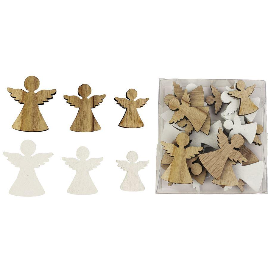 Dekorační andílci, 24 ks D1257