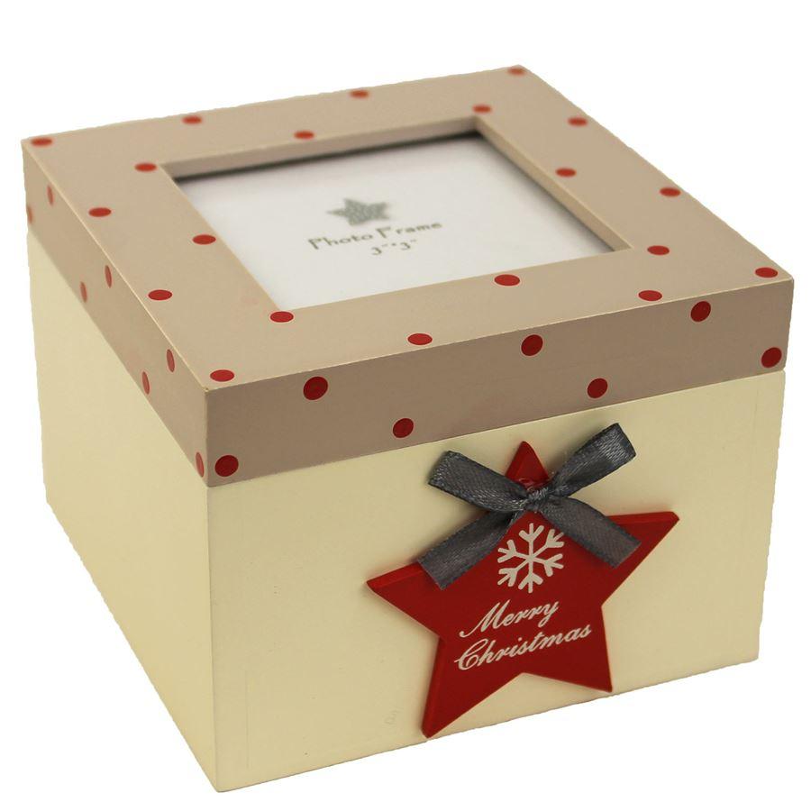 Dřevěná krabička s hvězdou D0416