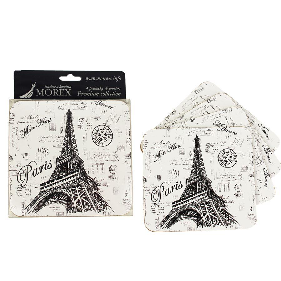 Podtácky 4 ks - Eiffelovka 2 350060