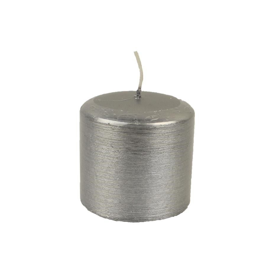Svíčka KONTURY - stříbrná MK0004