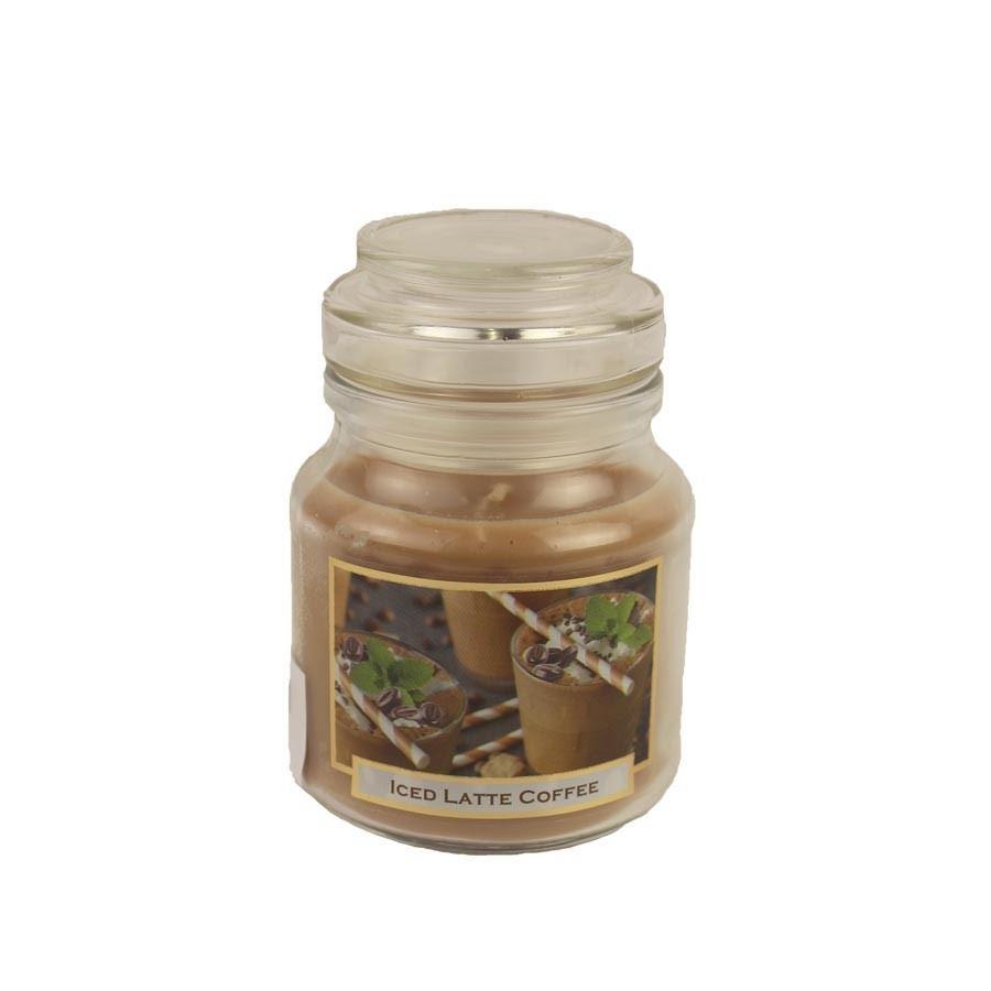 Svíčka s vůní 130g ve skleněné dóze s víčkem - COFFEE Ice Latte MB0007