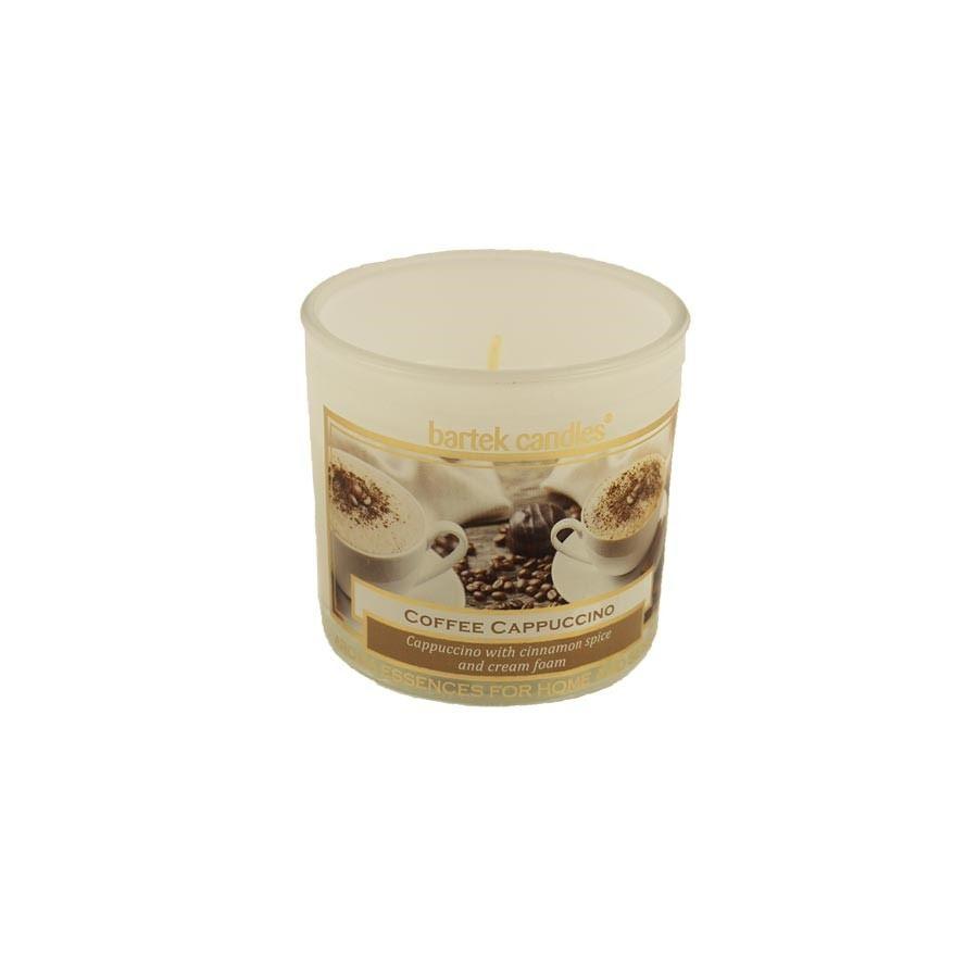 Svíčka ve skle 75g bílá - Coffee Cappuccino MB0002