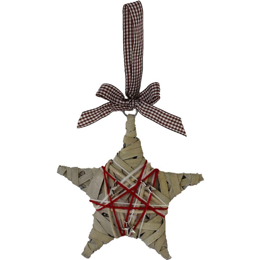 hvězda 20cm šedá 381816-21