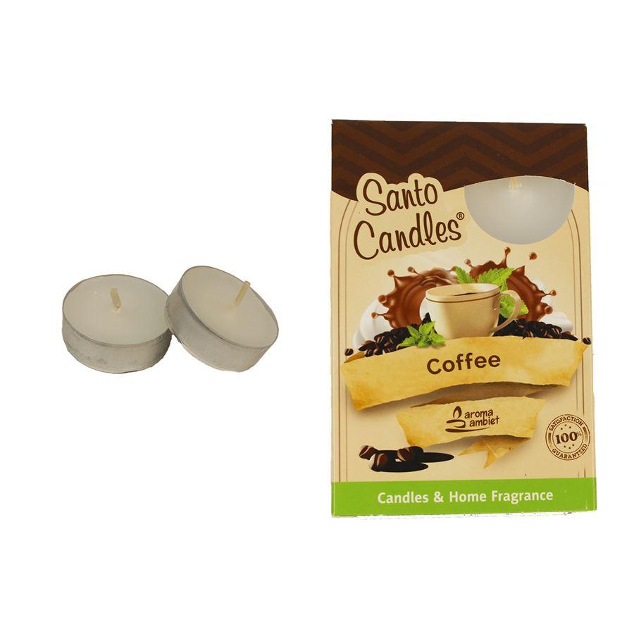 Svíčka čajová COFFEE 6ks MSC-TL1026