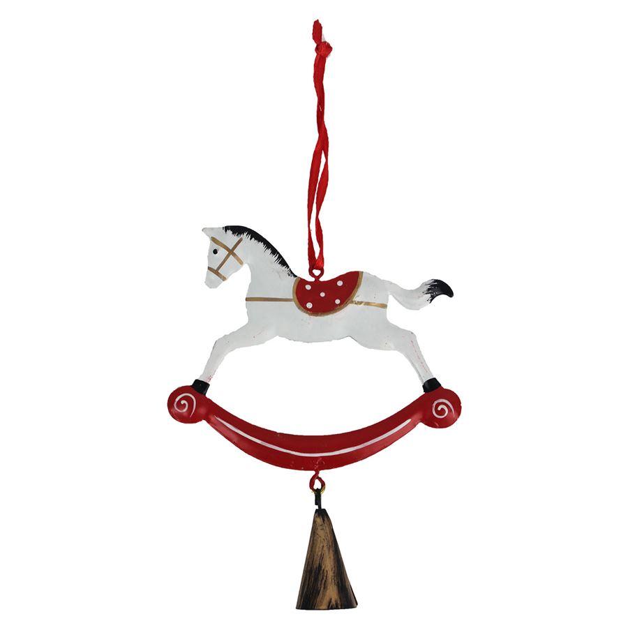 Koník k zavěšení bílý K1669-01
