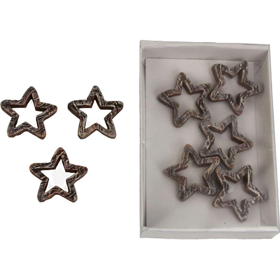 Dekorační hvězdičky, 8ks X0374