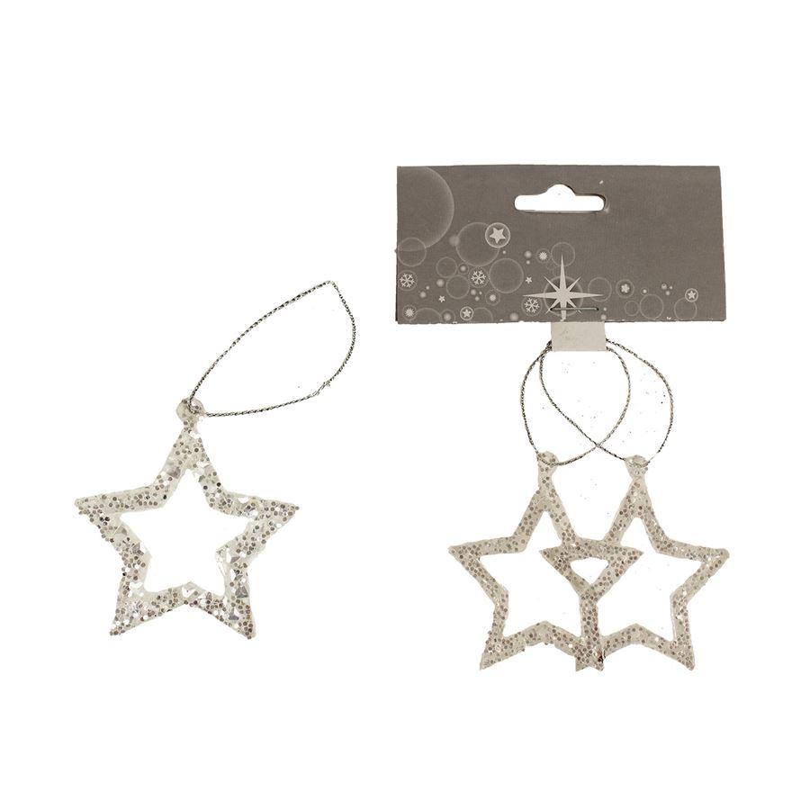 Dekorace hvězda, 2ks X1645