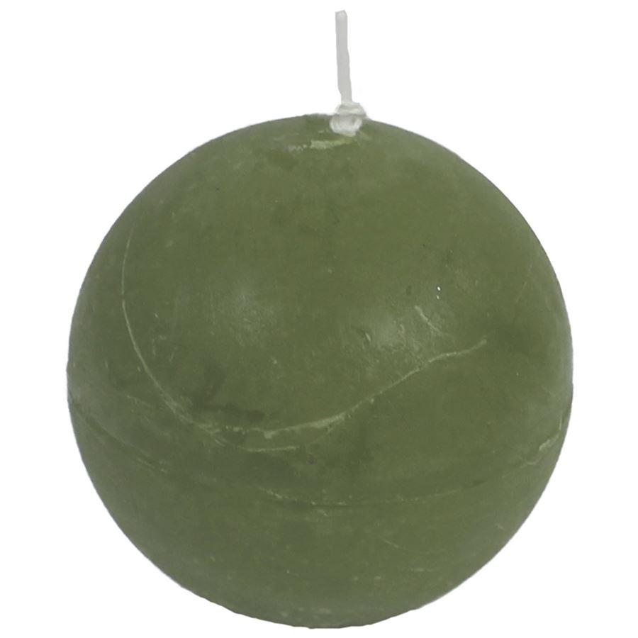 svíčka koule zelená, pr. 8 cm, S0013-16