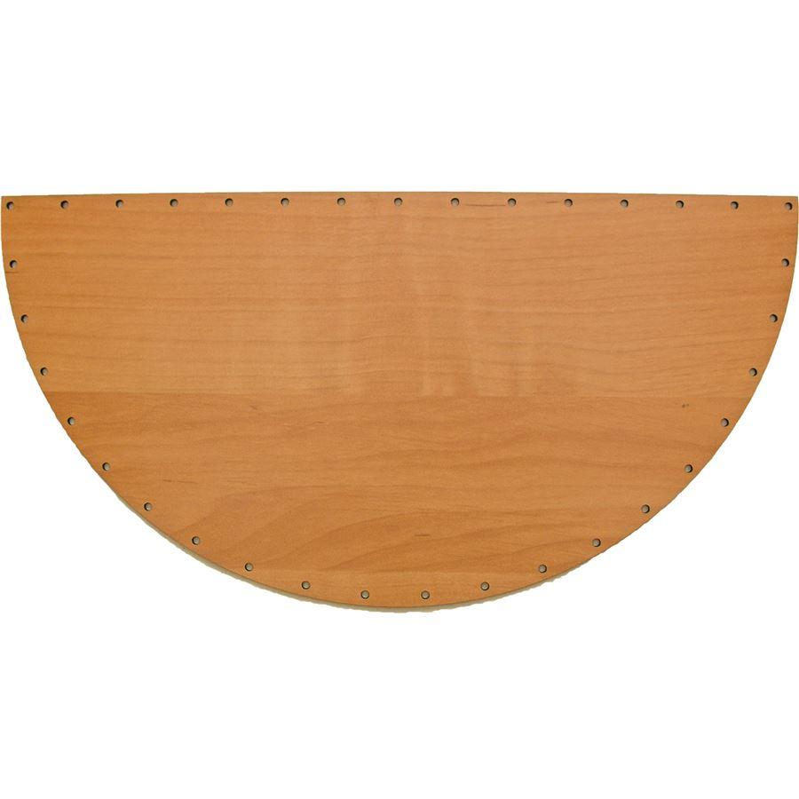 sololak olše půlkruh 34x17cm s otvory 22L3417P