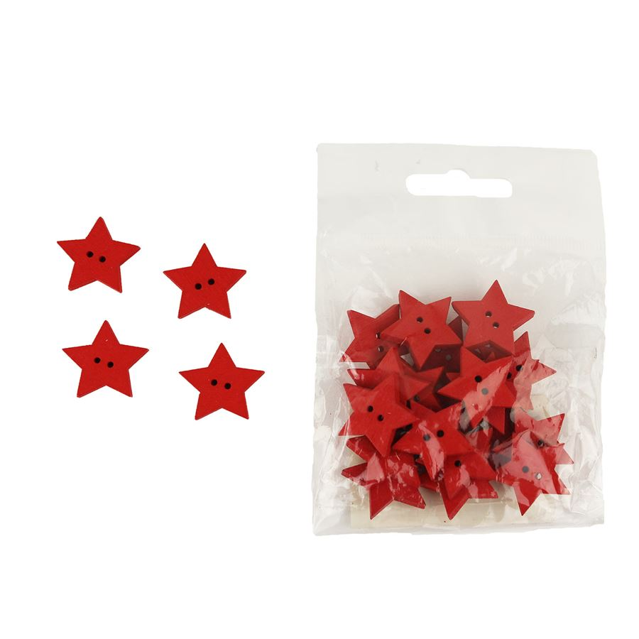 Dekorační hvězdičky červené, 24ks D0844/C