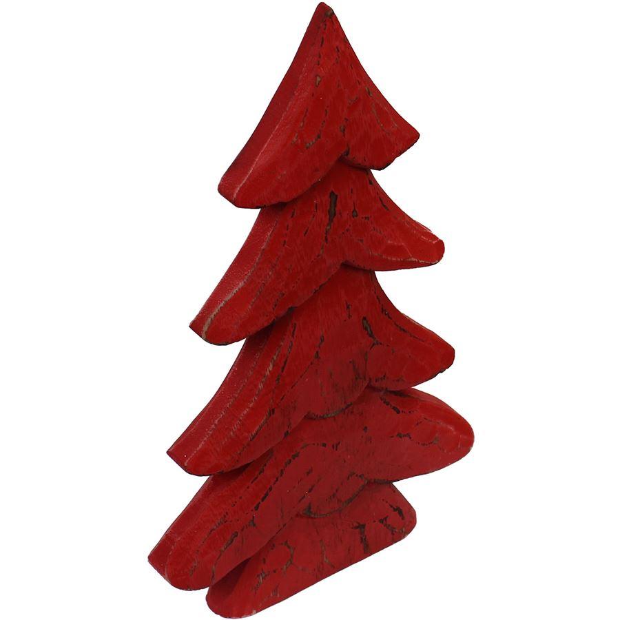 dekor. stromeček červený velký, D0040