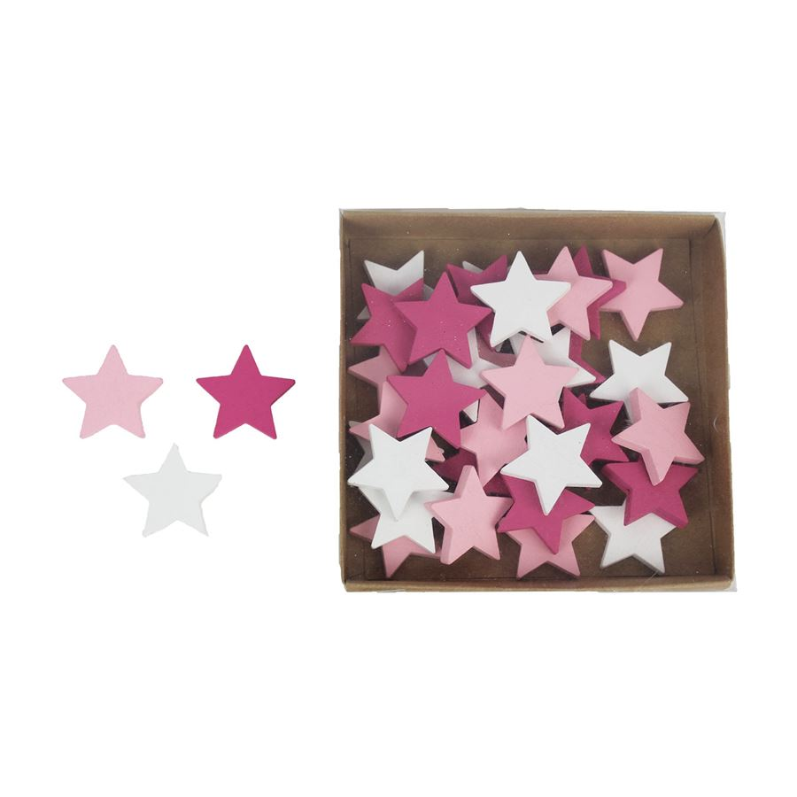 Dekorační hvězdičky, 36 ks D1726