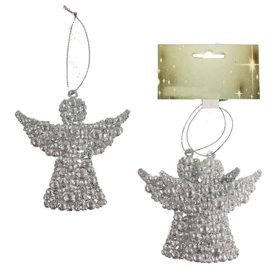 Dekorace anděl, 2ks X1651/ST