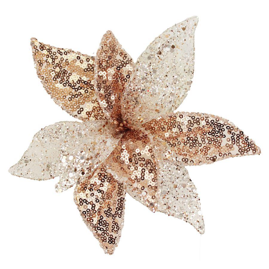 Dekor. květ 25cm, růžový X1660/3