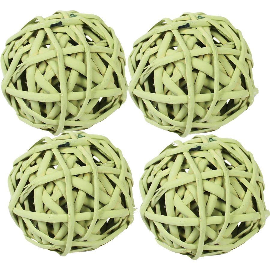 koule  zelená 7 cm, sada 4ks P0007-15